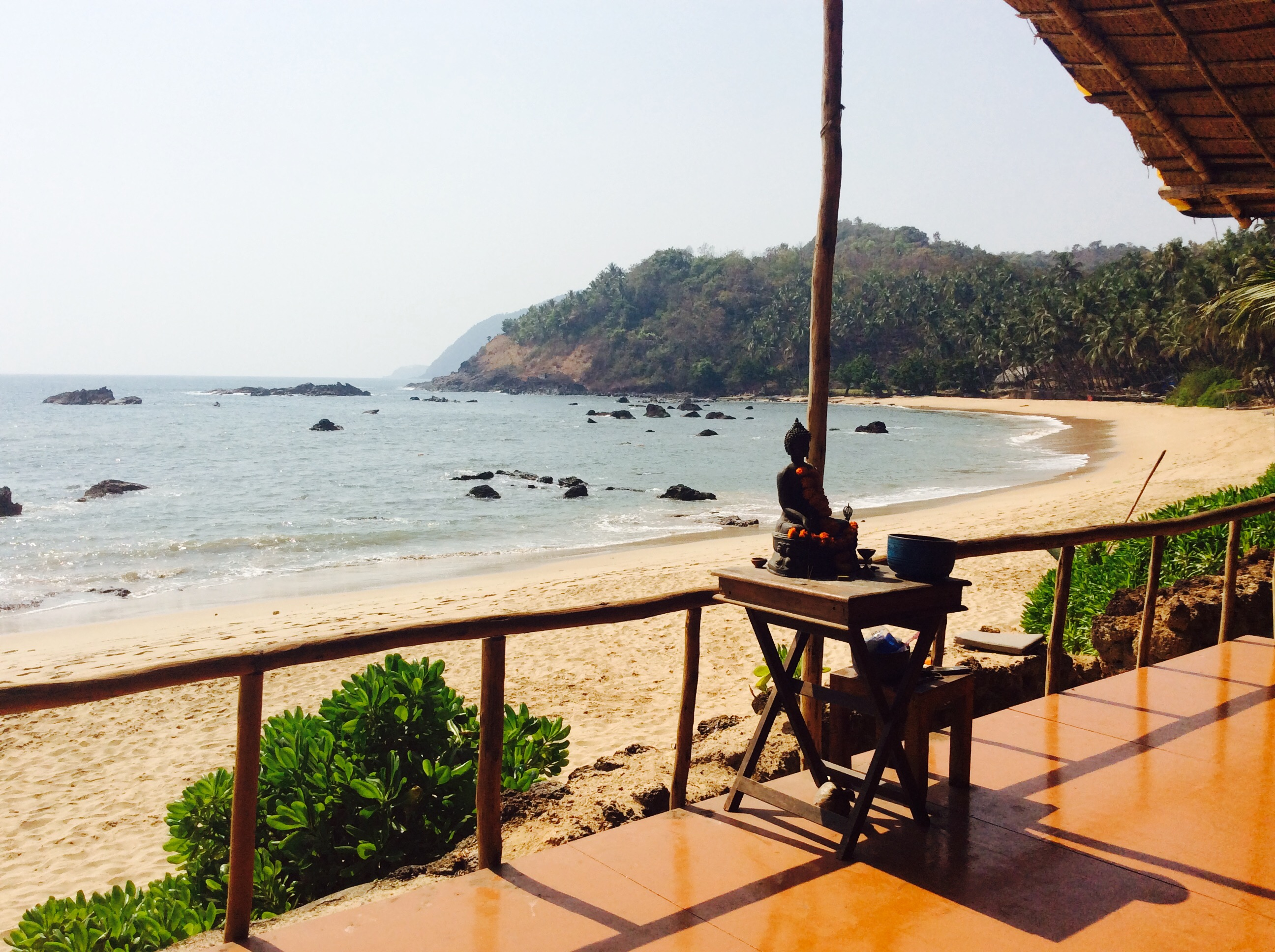 India: Goa, shala view New