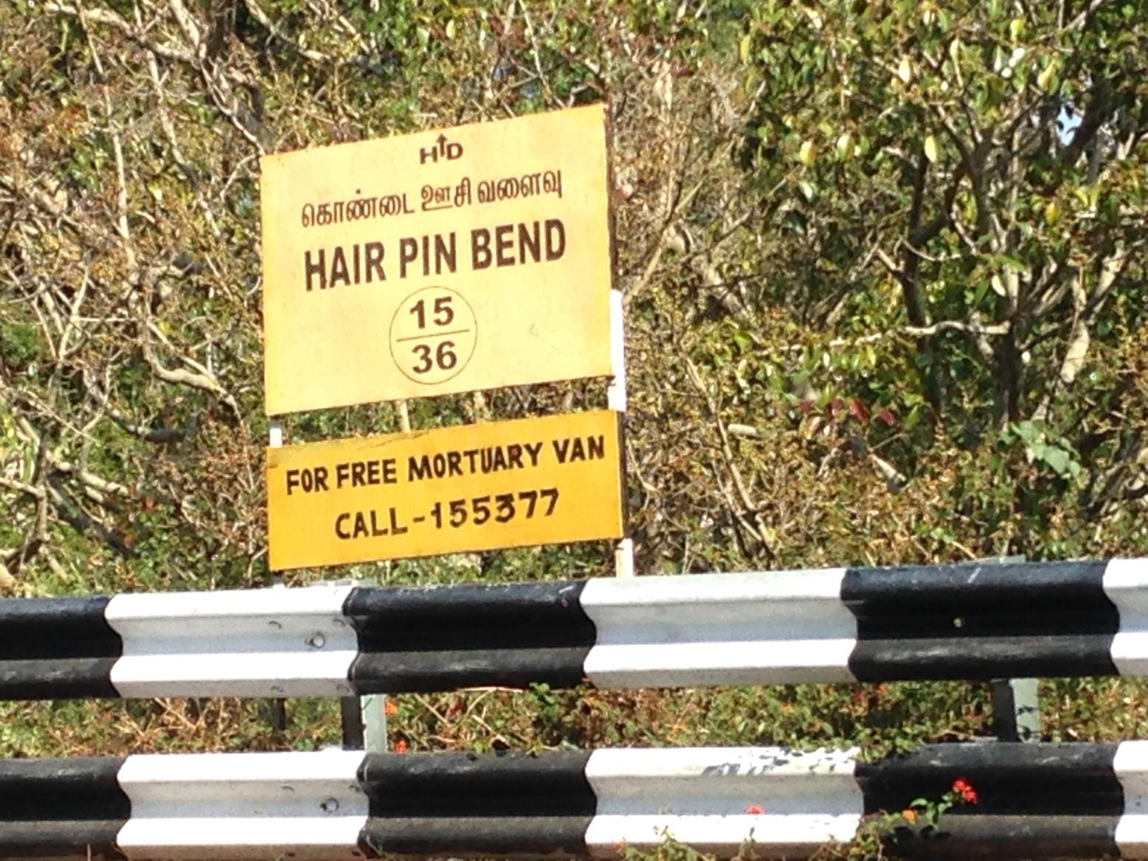 India: pin bends