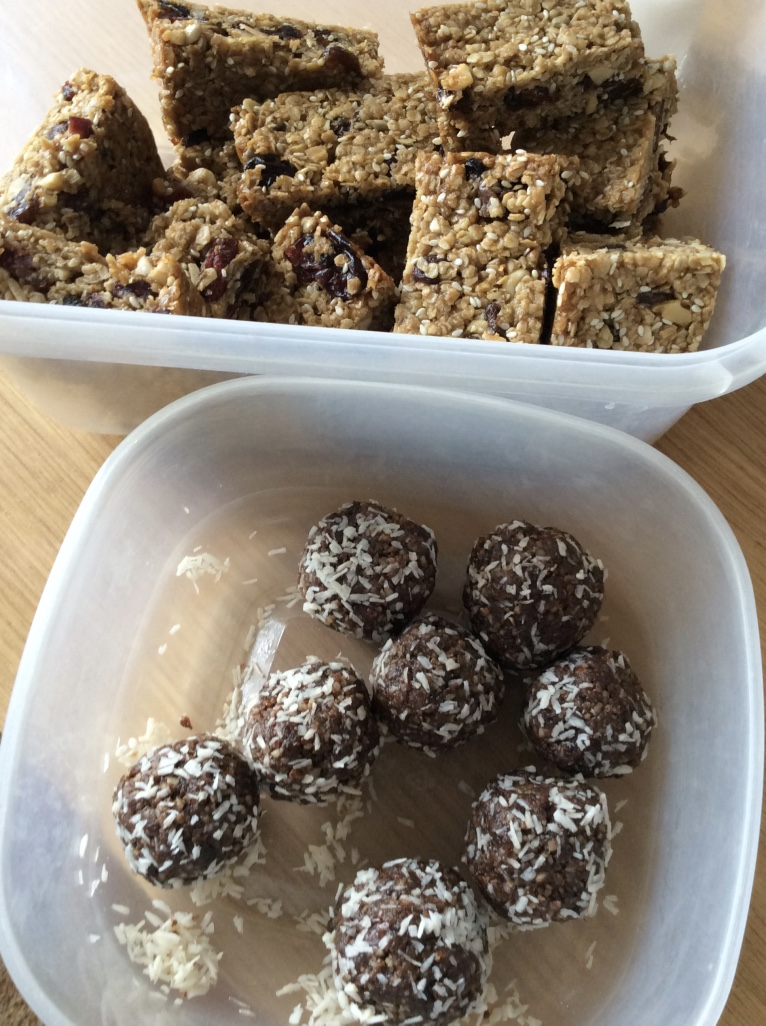 Flapjacks and energy balls